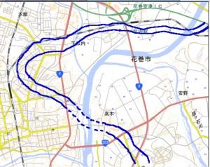 第62図 花巻地区河道(古代)