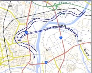第63図 花巻地区河道(近世初期)