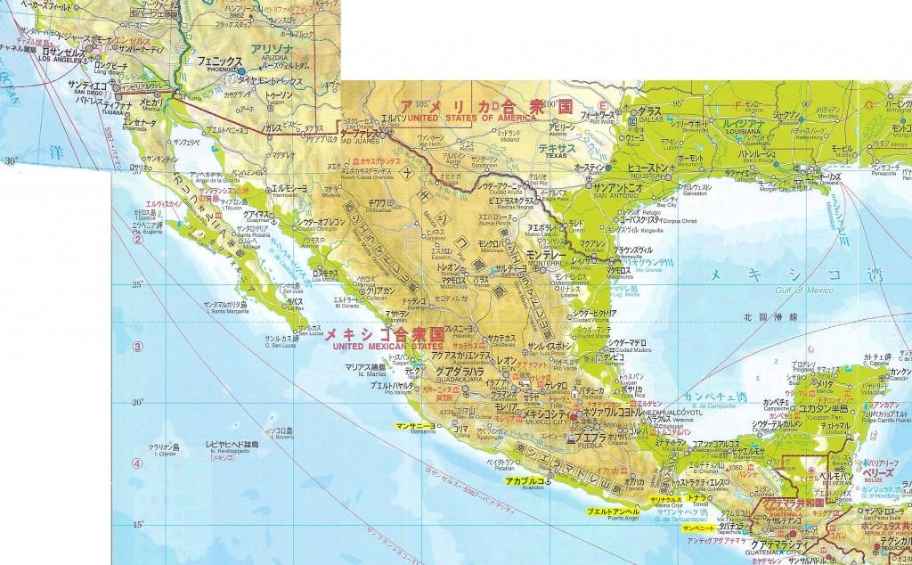 メキシコ全図