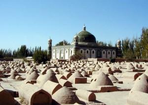 香妃墓とウイグル族の墓(カシュガル)