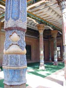 モスクの木柱(カシュガル)