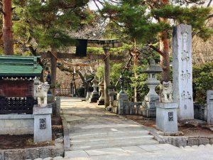 日高神社境内入口 (岩手県奥州市水沢区)