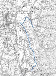 大正期の仁兵衛堰 (右クリックで拡大表示できます)