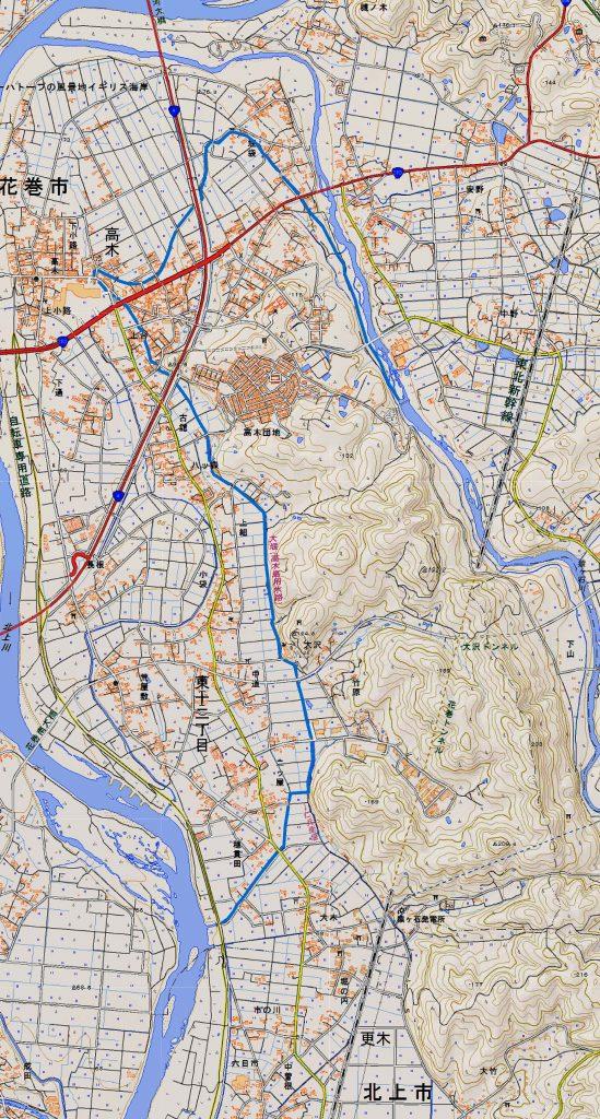 現在の大堰(高木島用水路) (右クリックで拡大表示できます)